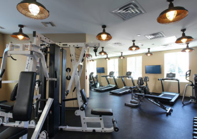 fitness center at The Tempo at ENCORE! apartments in Tampa