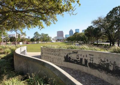history walk at The Tempo at ENCORE! apartments in Tampa