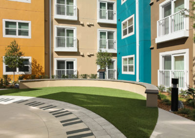 lawn at The Tempo at ENCORE! apartments in Tampa