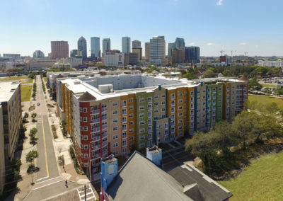 skyline view of downtown Tampa from The Tempo at ENCORE!